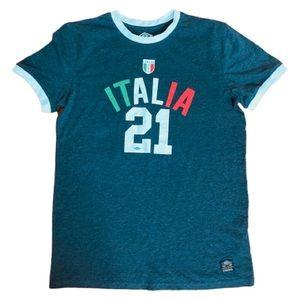 Umbro Gray Italy Soccer/Football Tee Shirt